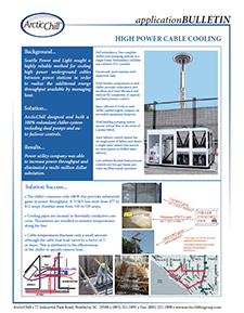 Arctic Case Study: High Power Cable Cooling